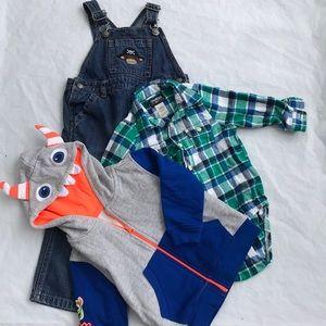 Name Brand Toddler Baby boy cloths 3pc size 2T EUC